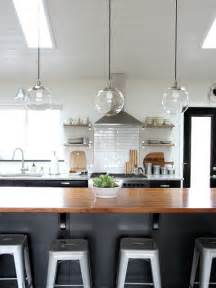 About the globe lights that are suspended above the kitchen island i
