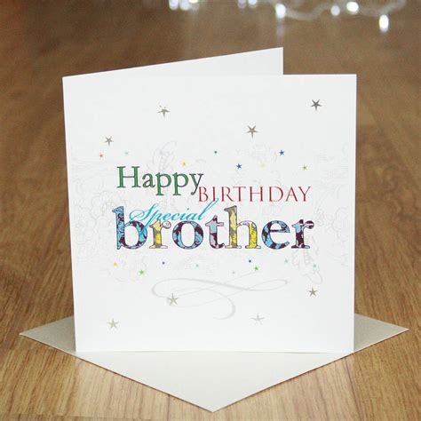 Happy Birthday Brother Cards Printable | happy birthday brother card by 2by2 creative