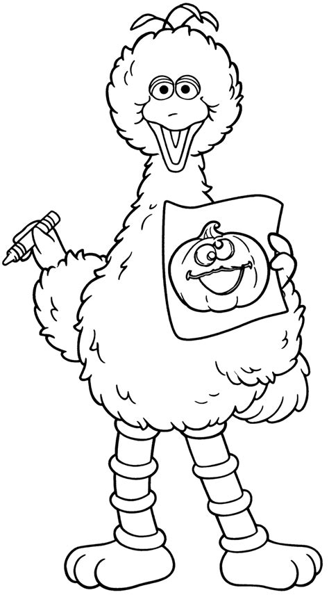 large printable halloween coloring pages halloween coloring pages halloween big bird from sesame