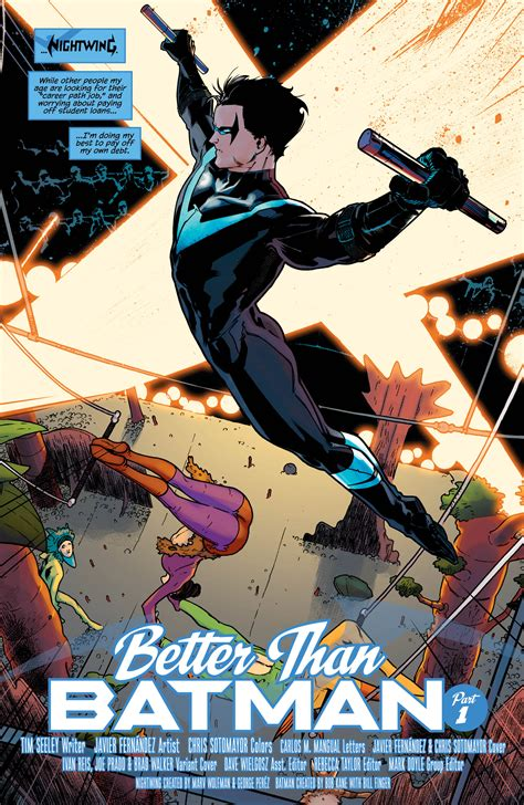 preview nightwing vol 1 better than batman all comic