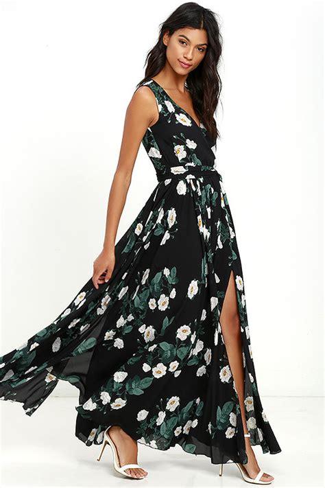 Maxi Flower Black Dress lovely black dress floral print dress maxi dress 149 00