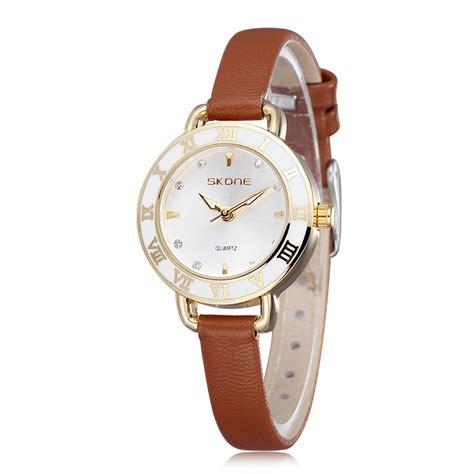 fashion luxury quartz thin leather straps