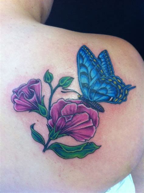 wild sweet pea flower tattoo www imgkid com the image