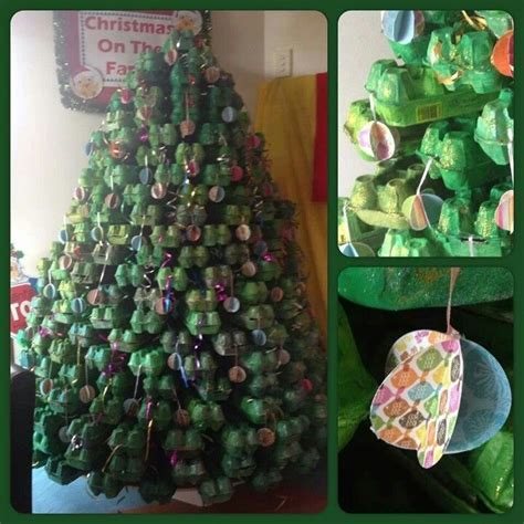 egg carton christmas tree christmas pinterest trees