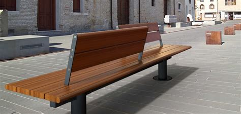 panchine moderne panchina in legno in stile moderno con schienale valencia