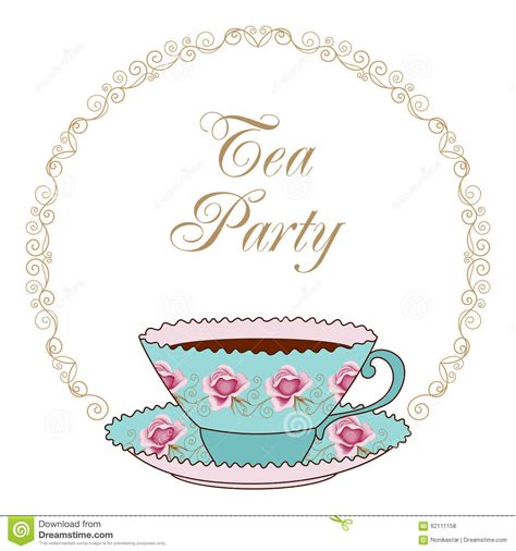 tea card template customize tea card stock vector illustration of decorative