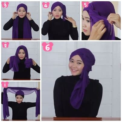 tutorial jilbab pashmina ria ricis tutorial hijab cara memakai jilbab pashmina ikat atas