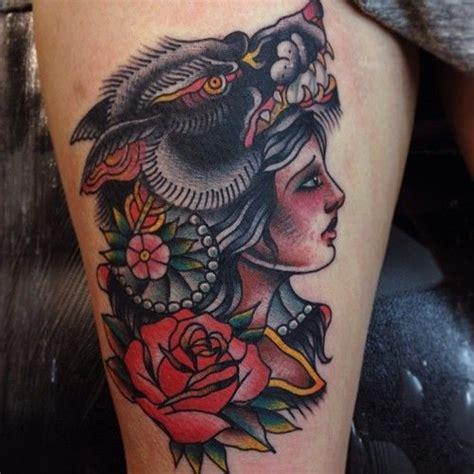 gypsy woman tattoo wolf tattoos