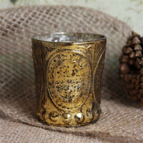 mercury glass home decor antique style gold mercury glass votive home decor
