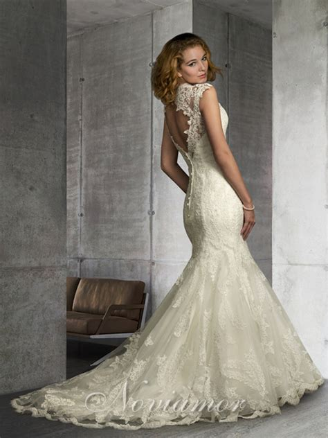 Wedding Dresses Open Back Lace