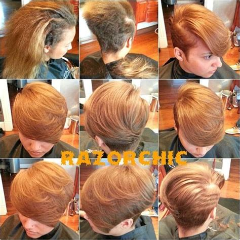 razor chic of atlanta hairstyles razor cut bob hair pinterest