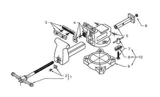 diagram of a bench vice buy wilton 746a replacement tool parts wilton 746a vise