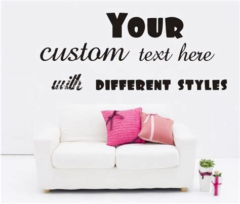 custom wall stickers words large custom vinyl wall quote decal sticker words
