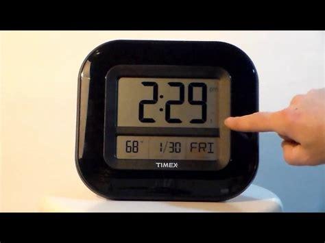 digital atomic desk clock timex 75322t 9 quot atomic digital time temp date wall