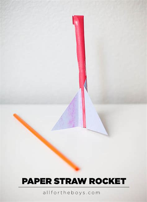 How To Make A Simple Paper Rocket - straw quotes like success