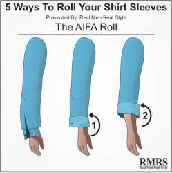 how to roll up dress shirt sleeves