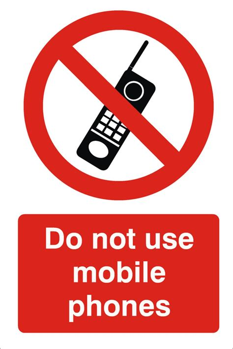 sign in to mobile do not use mobile phones sign raymac signs