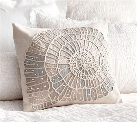 embellished shell pillow cover pottery barn