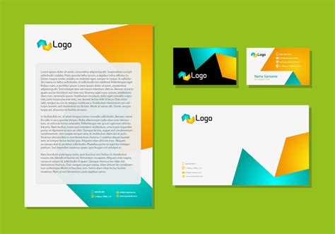 stationery layout vector letter head design corporate identity stationery