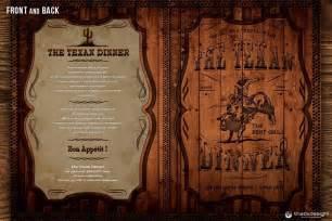 western grill menu card template that s design