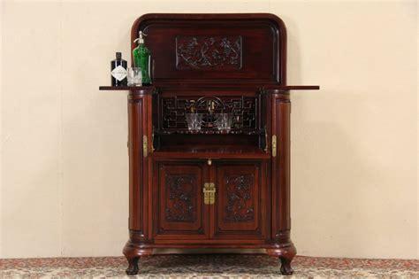 mission style liquor cabinet sold carved mahogany vintage bar liquor cabinet