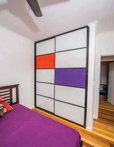 mondrian inspired sliding doors functional art   home