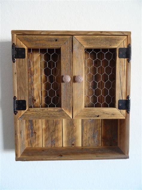 reclaimed wood wall cabinet reclaimed wood curio wall cabinet chicken wire doors