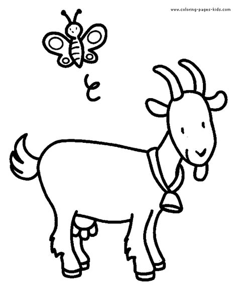goat coloring pages kindergarten goat color page animal coloring pages color plate