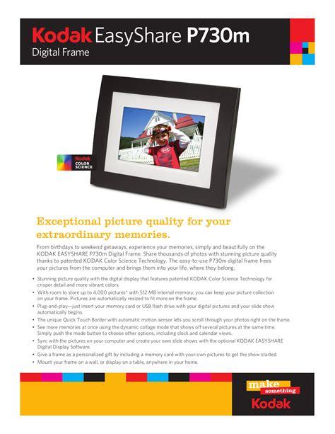 Download Free Pdf For Kodak Easyshare P730 Digital Photo