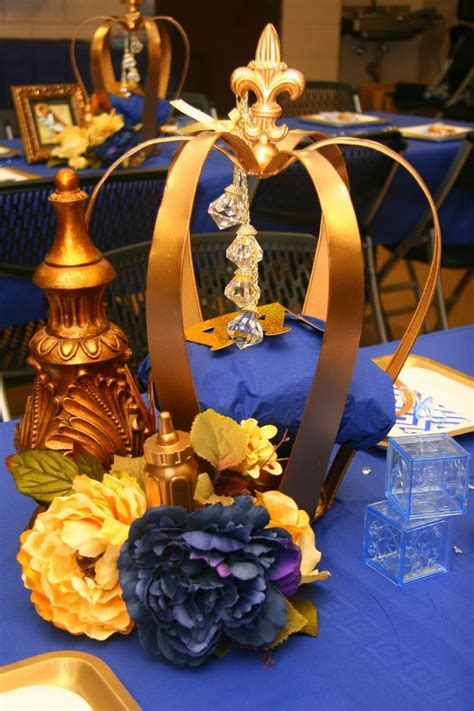 Ddk Royal Prince Centerpiece Royal Prince Pinterest Royal Baby Shower Centerpieces