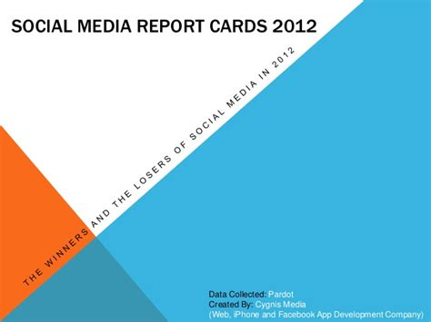 Social Media Report Card Template by Social Media Report Cards 2012 2013