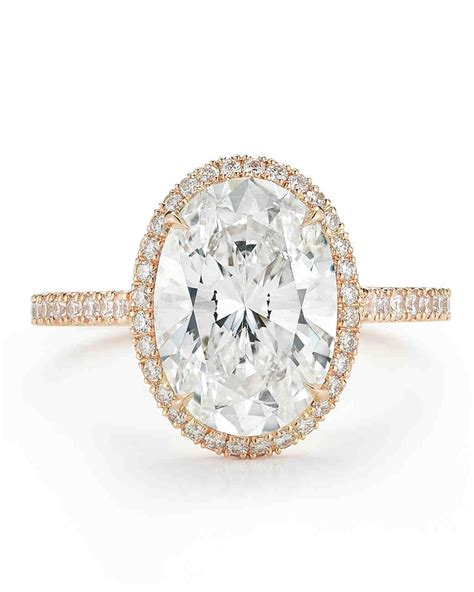 Wedding Rings Oval by Oval Engagement Rings For The To Be Martha Stewart