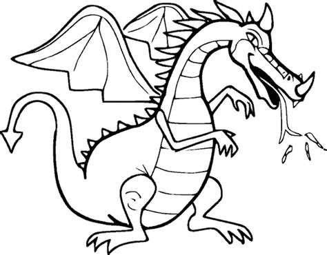 dragon coloring for preschool coloring pages