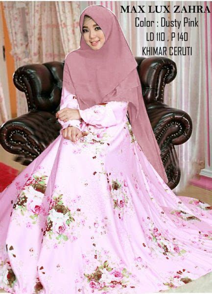 Rok Zahara Baby Pink by Gamis Syari Maxlux Zahra Xl Butik Jingga