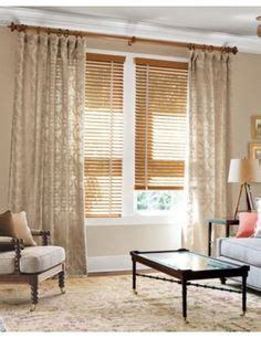 Curtains On Windows With Blinds 1000 Images About Wood Blinds On Wood Blinds White Blinds And Kathy Ireland