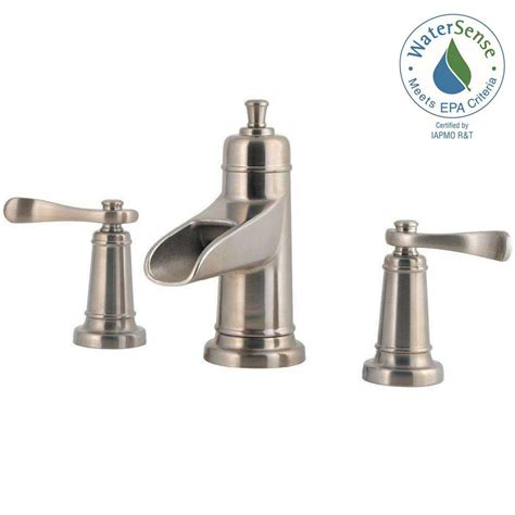 Brushed Nickel Bathroom Faucets by Pfister Ashfield 8 In Widespread 2 Handle Bathroom Faucet
