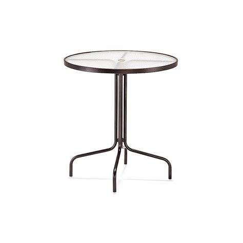 36 bar height table 36 dia bar umbrella height table acrylic top with