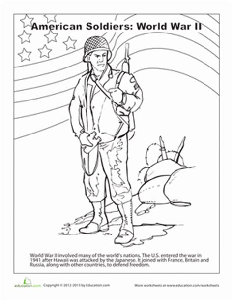 wwii printable coloring pages