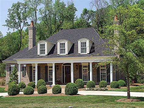 country plantation style house plan 17690lv 1st floor
