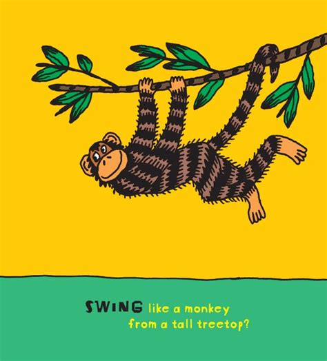 swing like a monkey about the book