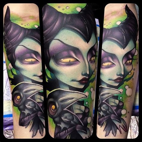 cartoon witch tattoo old cartoon like colored evil witch tattoo on forearm with