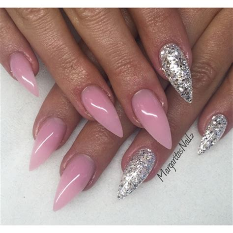 Glitzer Nägel Galerie 2471 by Pink And Silver Stilettos Nail Gallery