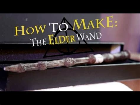 how to make a paper harry potter elder wand youtube how to make the elder wand harry potter diy