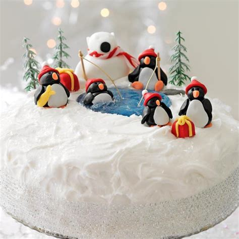 polar decorations cake decoration penguins and a polar housekeeping