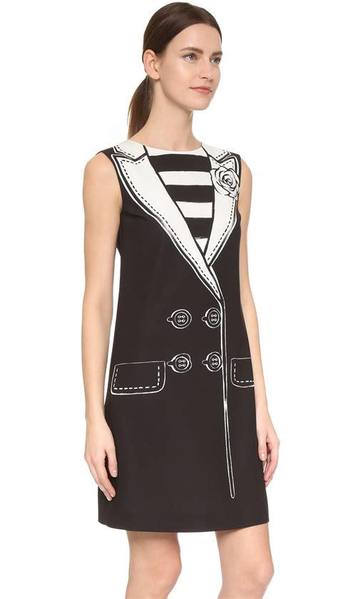 Dress L boutique moschino sleeveless trompe l oeil dress in black