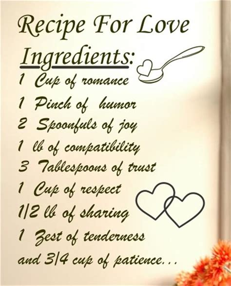 How To Decorate My New Home recipe for love ingredients 1 cup of romance vinyl