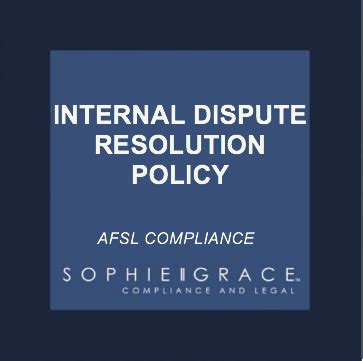 dispute resolution policy template afsl dispute resolution policy template