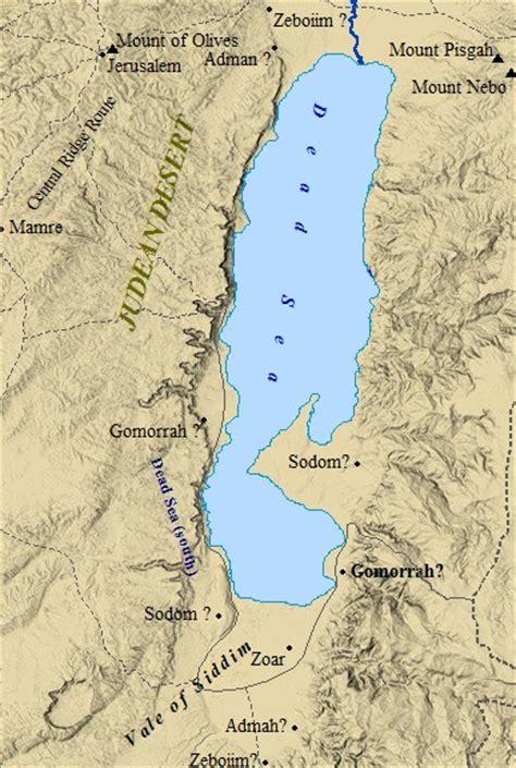 sodom and gomorrah map sodom and gomorrah