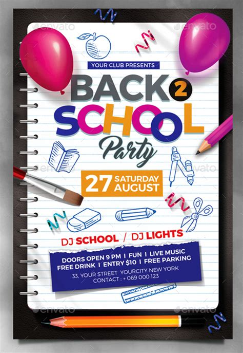 22 Back To School Flyers Free Psd Ai Eps Format Download Free Premium Templates Free School Flyer Templates