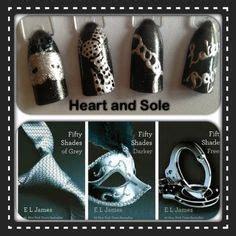 fifty shades of grey nails easy nail art tutorial 50 shades of 50 shades of grey on pinterest 50 shades fifty shades